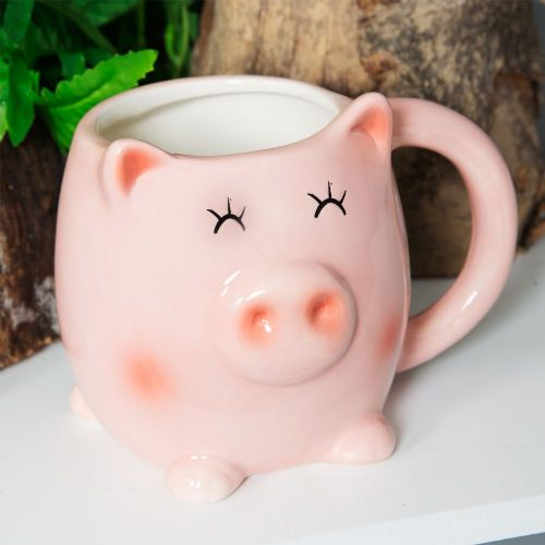 Cute 3D Piglet Mug With Ears - Gorgeous Pink Pig Coffee Mug Gift